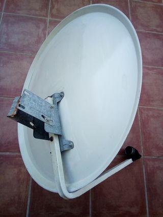 antena parabolica grande 82 por 77 cm