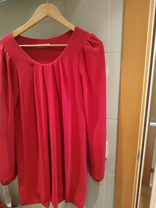 vestido rosa fuerte