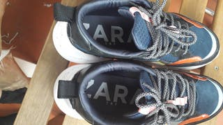 zapatillas de zara talla 38 usada una vez