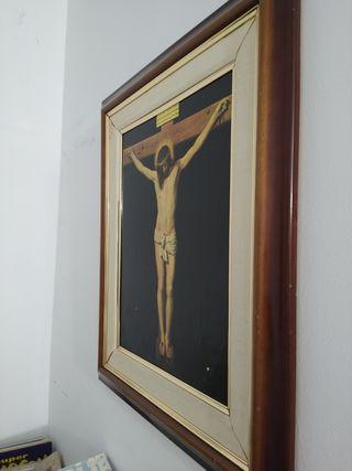 lamina de cristo en la cruz