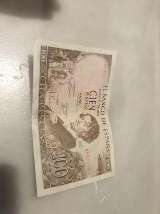 illete 100 pesetas año 1965