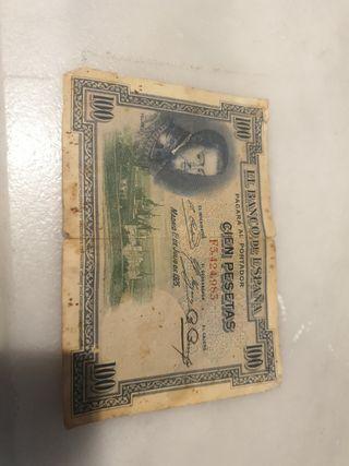 billetes cien pesetas 1925