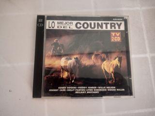 2 x CD LO MEJOR DEL COUNTRY