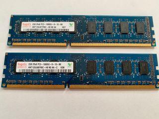 4gb (2x2gb) DDR3 HYNIX a 1333mhz memoria RAM
