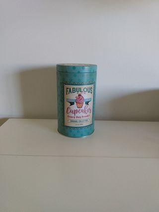 lata decorada para galletas