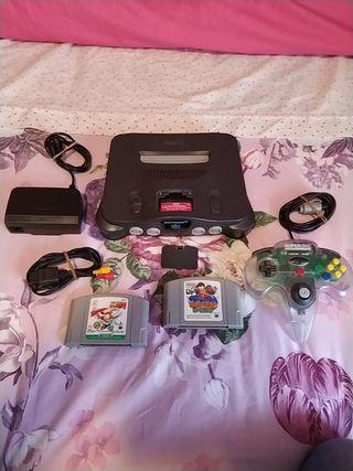 Consola Nintendo 64 Japonesa cargador a 220