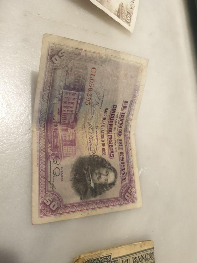 billete 50 pesetas 1928