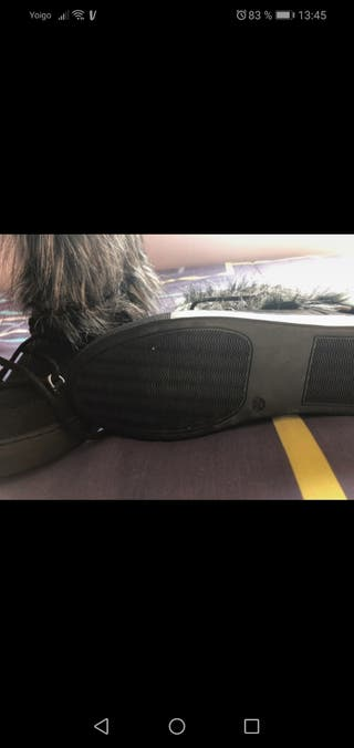 Botas pelo con cuña interior talla 38 nuevas