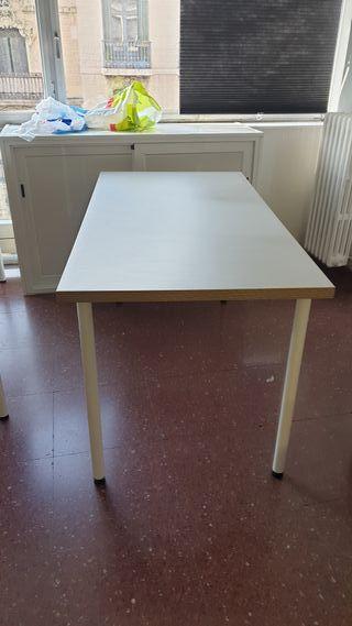 mesa grande de oficina color gris