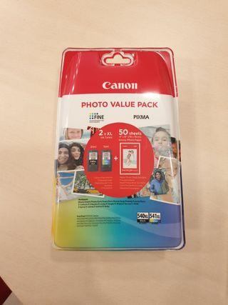 Cartucho de tinta Canon 540XL y 541XL