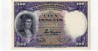8 billetes españoles Pesetas