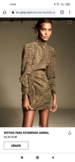 vestido leopardo zara