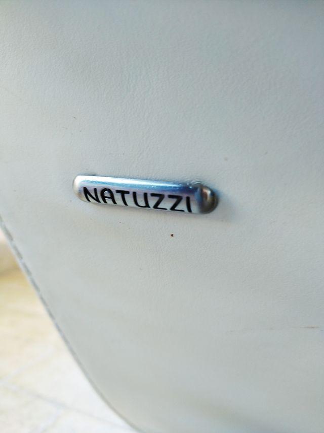Sofá Natuzzi !! Piel calidad Blanco Perolad