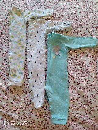 pack 3 pijamas bebé 3-6 meses, cotton juice, otras