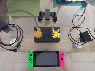 Nintendo Switch Pokémon dock + Smash Bros Ultimate