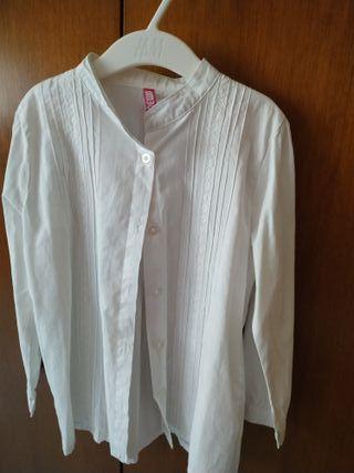 Blusa blanca 6-7 años