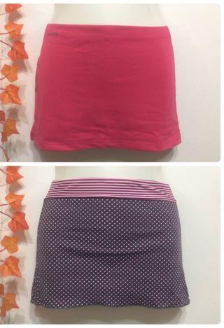 Dos faldas de deporte