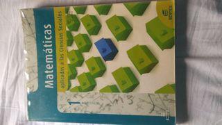 Libro Matemáticas 1°Bachillerato editex