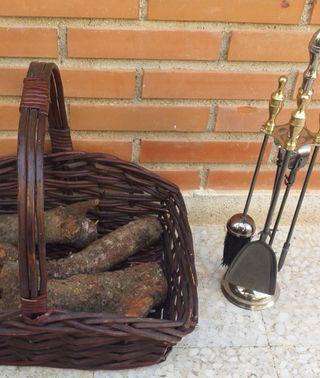 utensilios para la chimenea