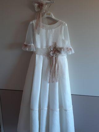 vestido comunion 115cm