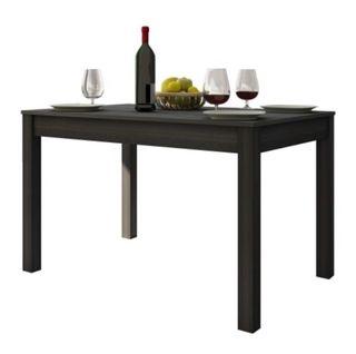 Mesa de comedor extensible negra
