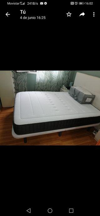 colchón vico elástico más base tapizada