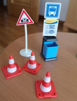 Pack señales de tráfico playmobil