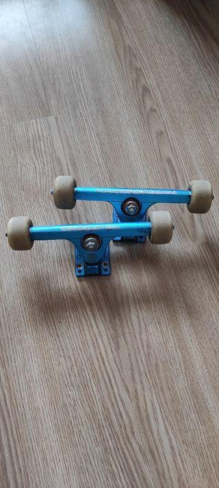 Ejes longboard Caliber II/ruedas skate/bones reds