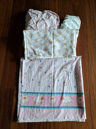 sábanas para cuna
