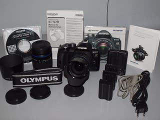 Cámara de fotos. OLYMPUS E-510 + complementos