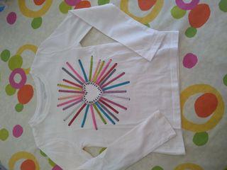 Camiseta Gap niña lápices. T 6-7