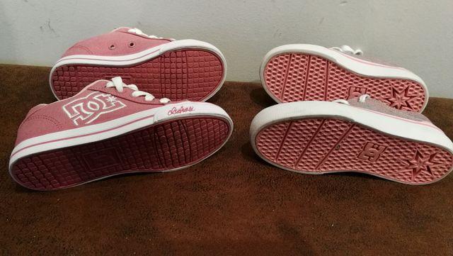 2 Pares de zapatillas DC shoes Talla 27.5 Playeras