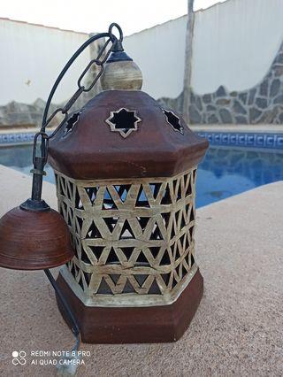 lampara de barrro estilo vintage