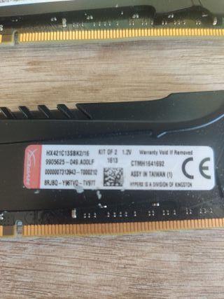 Memorias Ram Ddr4 2133 mhz cl13 4x8gb 32 Gb