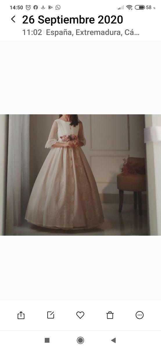precioso vestido de comunión talla 100