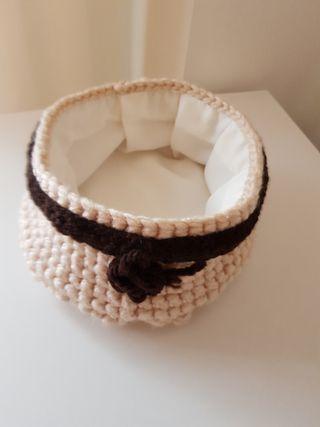 Cestillo de lana, artesanal