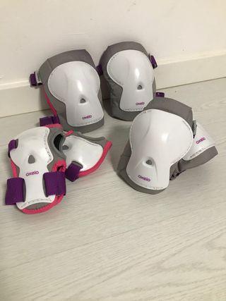 Set protentor de patinaje y bolsa de patines