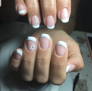 manicura semipermanente, gel, diseño a mano alzad