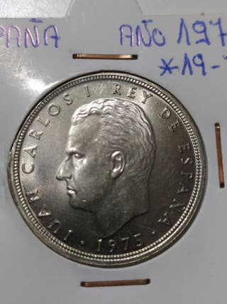 moneda de 50 pesetas de 1975 *76