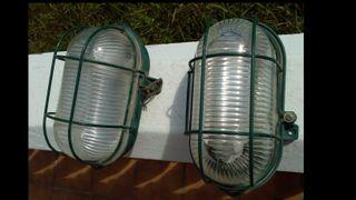 Plafones verdes para exterior (pareja)