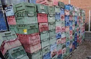 Cajas - cubetas de plastico apilables