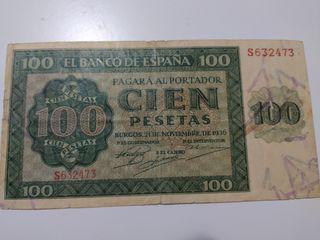 Billete 100 pesetas de 1936