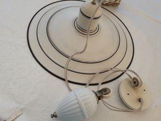 lámpara vintage con polea