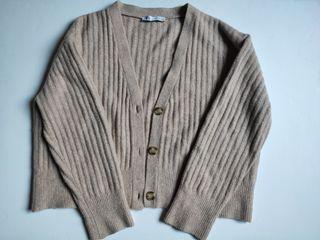 chaqueta punto Zara lana