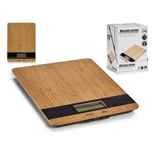 Báscula de Cocina (17 x 2 x 23 cm) Digital Bambú!