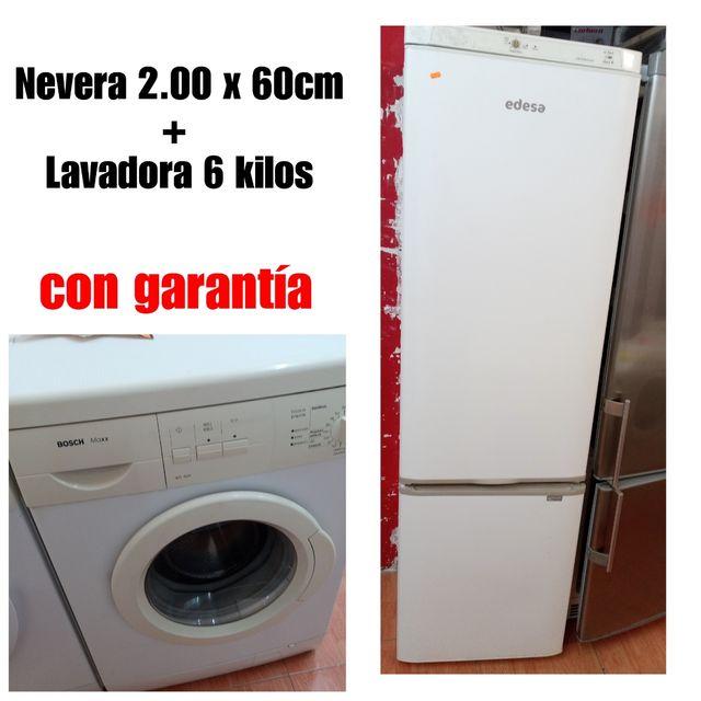 Nevera+ Lavadora con garantía