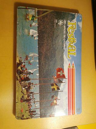 caja lápices festival años 70-80
