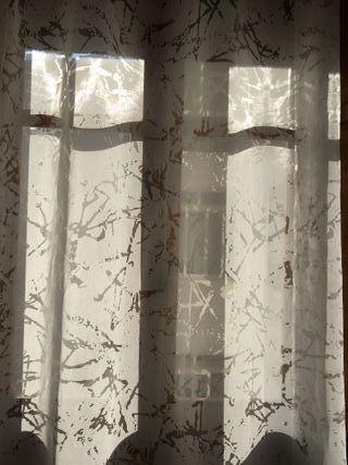 Cortina tela transparente
