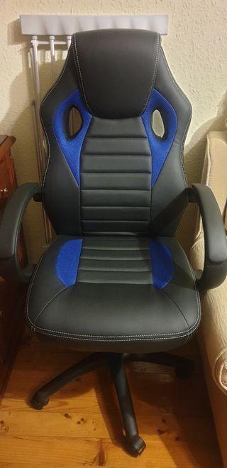 silla gamer prácticamente nueva