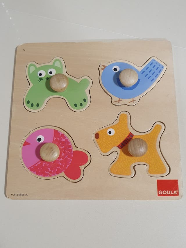 Puzzle de madera infantil.